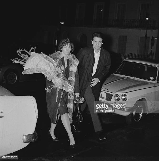Actress Leslie Caron and actor Warren Beatty out together 5th February 1965