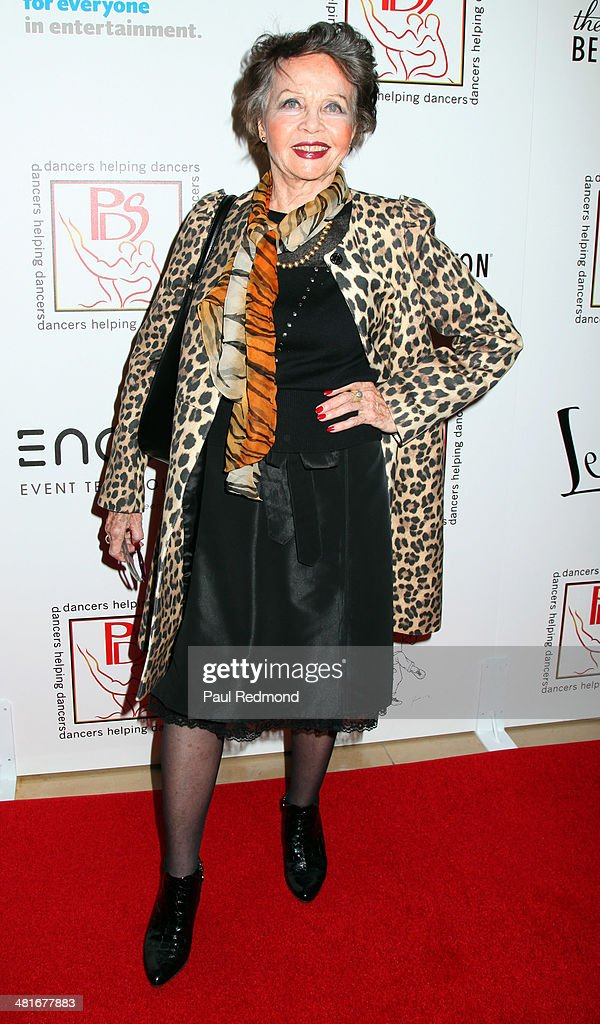 Actress Leslie Caron attending the Professional Dancers Society's 27th Annual Gypsy Award Luncheon at The Beverly Hilton Hotel on March 30, 2014 in Beverly Hills, California.