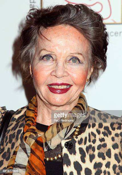Actress Leslie Caron attending the Professional Dancers Society's 27th Annual Gypsy Award Luncheon at The Beverly Hilton Hotel on March 30 2014 in...