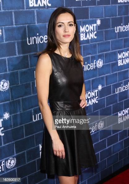 Actress Leslie Coutterand attends Montblancs...