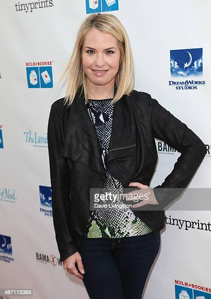 Actress Leslie Grossman attends Milk Bookies 5th Annual Story Time Celebration at the Skirball Cultural Center on April 27 2014 in Los Angeles...