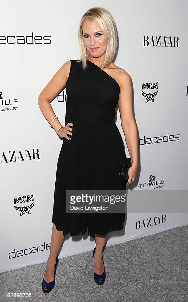 Actress Leslie Grossman attends the Harper's BAZAAR celebration of Cameron Silver and Christos Garkinos of Decades new Bravo series 'Dukes of...