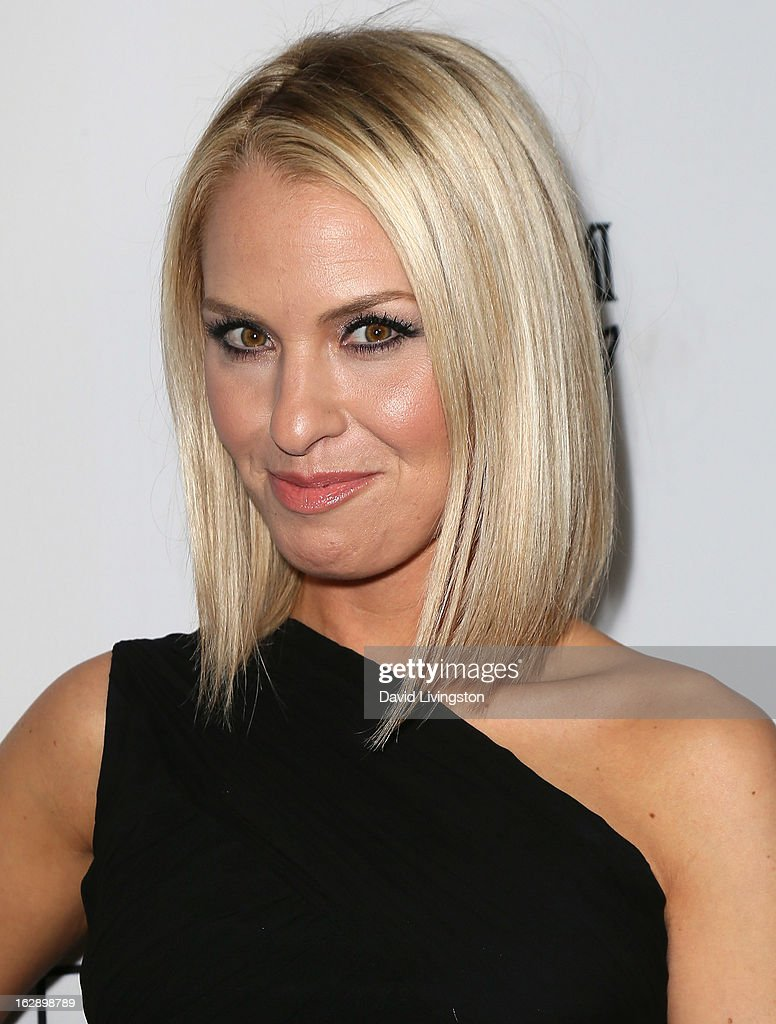 Actress <a gi-track='captionPersonalityLinkClicked' href=/galleries/search?phrase=Leslie+Grossman&family=editorial&specificpeople=812721 ng-click='$event.stopPropagation()'>Leslie Grossman</a> attends the Harper's BAZAAR celebration of Cameron Silver and Christos Garkinos of Decades new Bravo series 'Dukes of Melrose' at The Terrace at Sunset Tower on February 28, 2013 in West Hollywood, California.