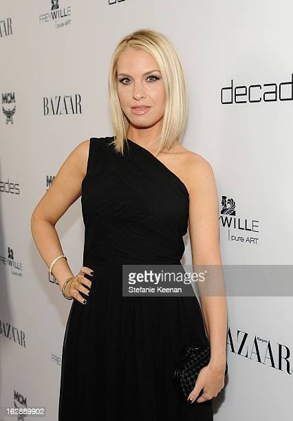 Actress Leslie Grossman attends the Harper's BAZAAR celebration of the launch of Bravo TV's 'The Dukes of Melrose' starring Cameron Silver and...
