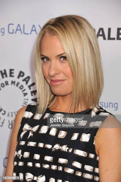 Actress Leslie Grossman attends the PaleyFest Icon Award 2013 held at The Paley Center for Media on February 27 2013 in Beverly Hills California