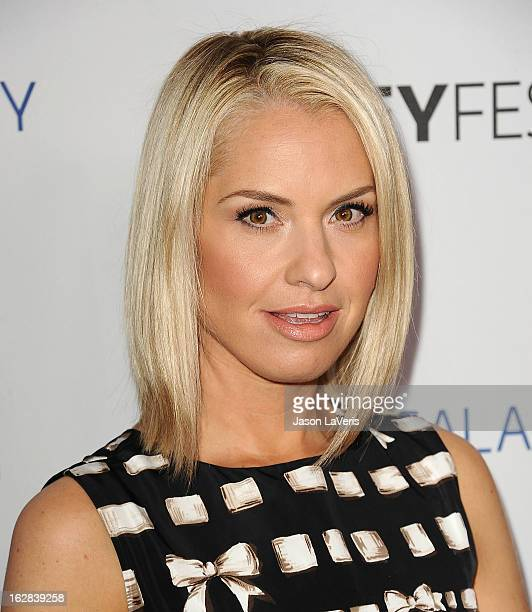 Actress Leslie Grossman attends the PaleyFest Icon Award presentation at The Paley Center for Media on February 27 2013 in Beverly Hills California