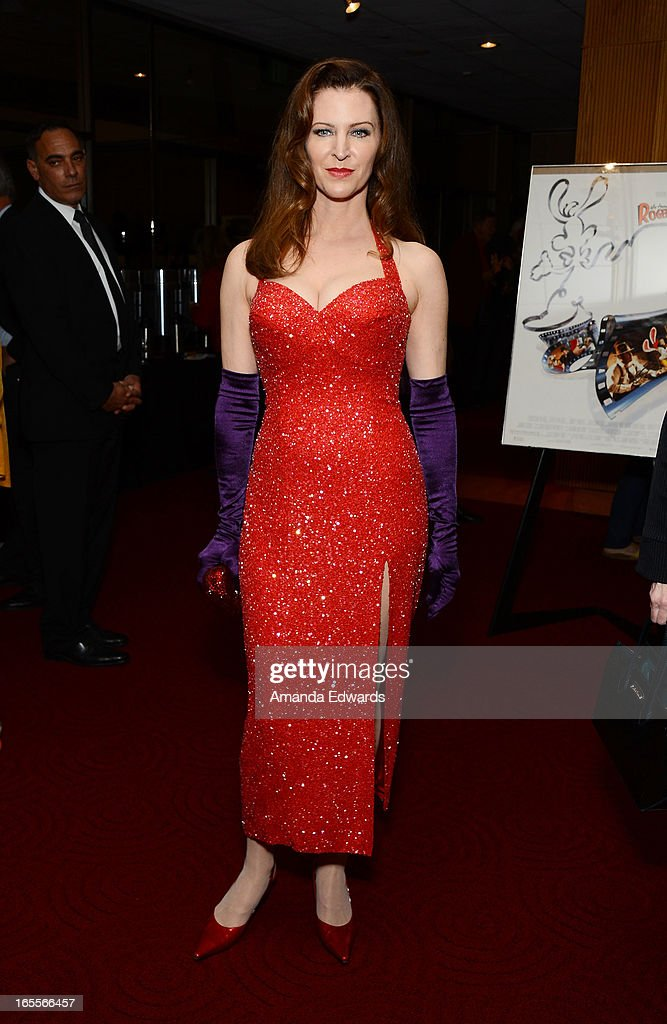 Actress Leslie Harter Zemeckis arrives at The Academy Of Motion Picture Arts And Sciences' 25th Anniversary Screening Of 'Who Framed Roger Rabbit' at AMPAS Samuel Goldwyn Theater on April 4, 2013 in Beverly Hills, California.
