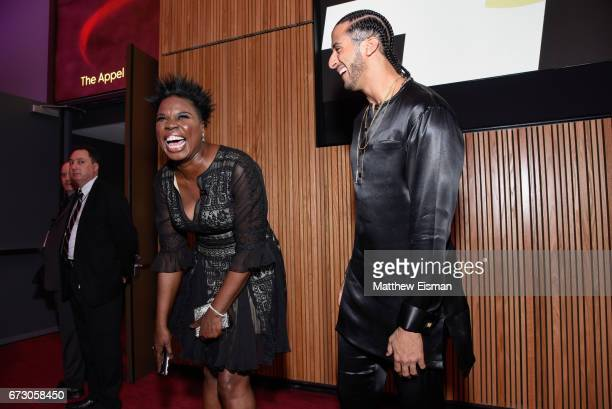 Actress Leslie Jones and NFL quarterback Colin Kaepernick attend 2017 Time 100 Gala at Frederick P Rose Hall Jazz at Lincoln Center on April 25 2017...