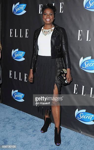 Actress Leslie Jones arrives at ELLE Hosts Women In Comedy Event With July Cover Stars Leslie Jones Melissa McCarthy Kate McKinnon And Kristen Wiig...