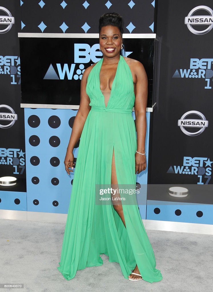 Actress Leslie Jones attends the 2017 BET Awards at Microsoft Theater on June 25, 2017 in Los Angeles, California.