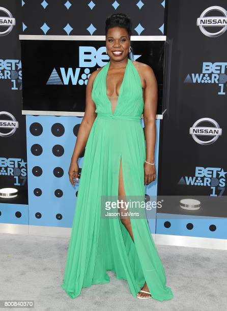 Actress Leslie Jones attends the 2017 BET Awards at Microsoft Theater on June 25 2017 in Los Angeles California