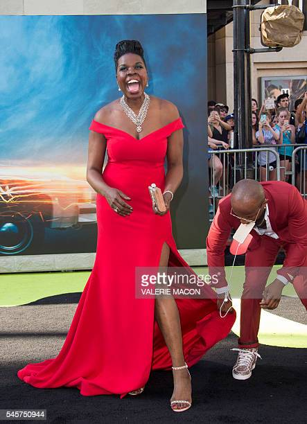 Actress Leslie Jones attends the Los Angeles Premiere of 'Ghostbusters' in Hollywood California on July 9 2016 / AFP / VALERIE MACON