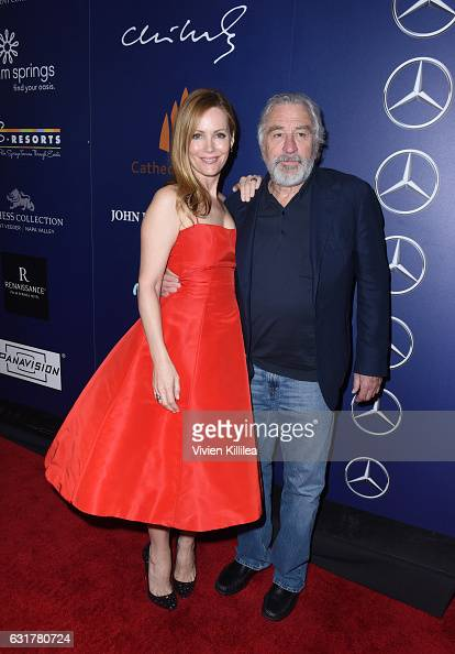 Actress Leslie Mann and actor Robert De Niro attend the Closing Night Screening of 'The Comedian' at the 28th Annual Palm Springs International Film...