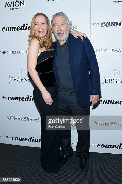 Actress Leslie Mann and actor Robert De Niro attend the screening of Sony Pictures Classics' 'The Comedian' hosted by The Cinema Society at The...
