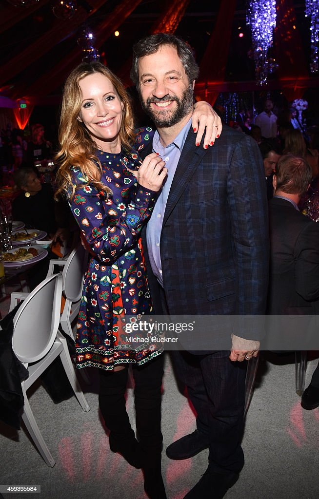 Actress Leslie Mann and director Judd Apatow attend Goldie Hawn's inaugural 'Love In For Kids' benefiting the Hawn Foundation's MindUp program...