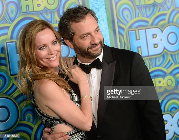Actress Leslie Mann and director Judd Apatow attend HBO's Annual Primetime Emmy Awards Post Award Reception at The Plaza at the Pacific Design Center...
