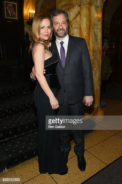 Actress Leslie Mann and filmmaker Judd Apatow attend the after party of Sony Pictures Classics' 'The Comedian' hosted by The Cinema Society at The...