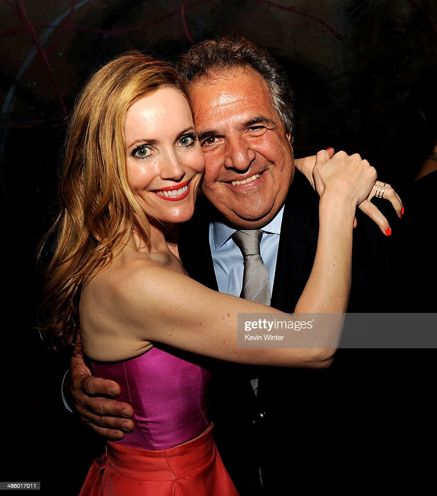 Actress Leslie Mann (L) and Jim Gianopulos, Chairman and CEO, Fox Filmed Entertainment pose at the after party for the premiere of Twentieth Century Fox's 'The Other Woman' at The W Hotel on April 21, 2014 in Los Angeles, California.