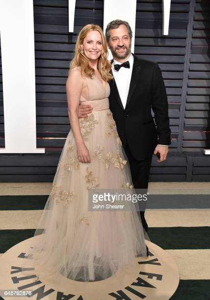 Actress Leslie Mann and producer Judd Apatow attend the 2017 Vanity Fair Oscar Party hosted by Graydon Carter at Wallis Annenberg Center for the...