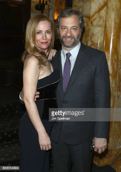 Actress Leslie Mann and producer Judd Apatow attend the screening after party for the Sony Pictures Classics' 'The Comedian' hosted by The Cinema...
