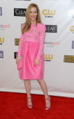 Actress Leslie Mann arrives at the 18th Annual Critics' Choice Movie Awards at Barker Hangar on January 10 2013 in Santa Monica California