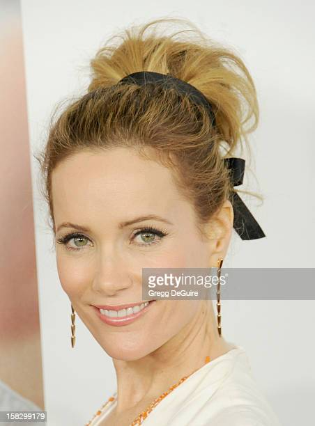 Actress Leslie Mann arrives at the Los Angeles premiere of 'This Is 40' at Grauman's Chinese Theatre on December 12 2012 in Hollywood California