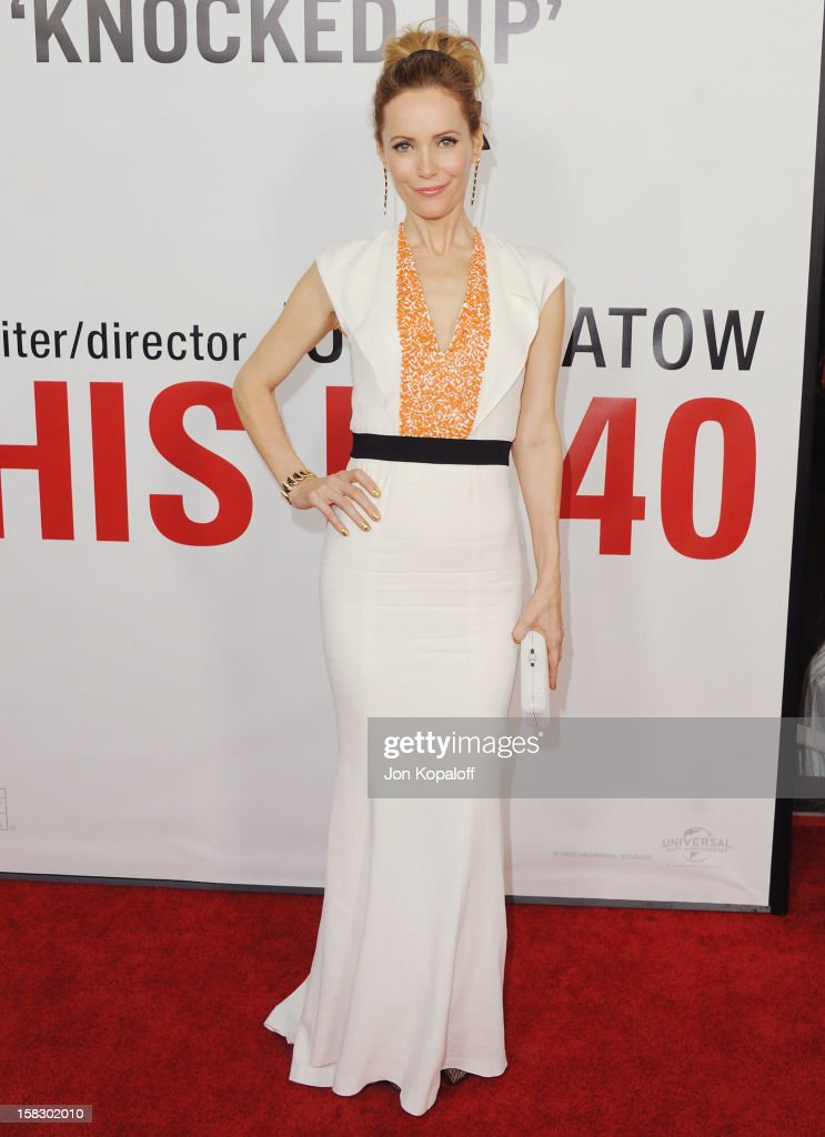 Actress Leslie Mann arrives at the Los Angeles Premiere 'This Is 40' at Grauman's Chinese Theatre on December 12, 2012 in Hollywood, California.