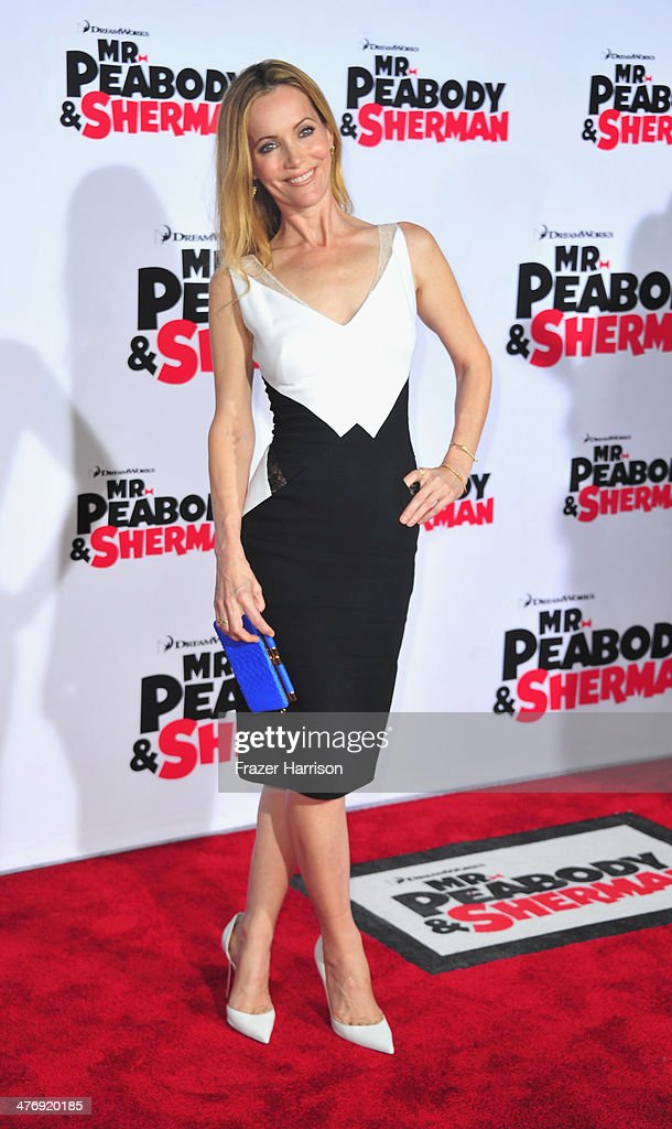 Actress <a gi-track='captionPersonalityLinkClicked' href=/galleries/search?phrase=Leslie+Mann&family=editorial&specificpeople=595973 ng-click='$event.stopPropagation()'>Leslie Mann</a> arrives at the Premiere of Twentieth Century Fox and DreamWorks Animation's 'Mr. Peabody & Sherman' at Regency Village Theatre on March 5, 2014 in Westwood, California.