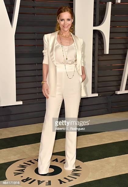 Actress Leslie Mann attends the 2015 Vanity Fair Oscar Party hosted by Graydon Carter at Wallis Annenberg Center for the Performing Arts on February...