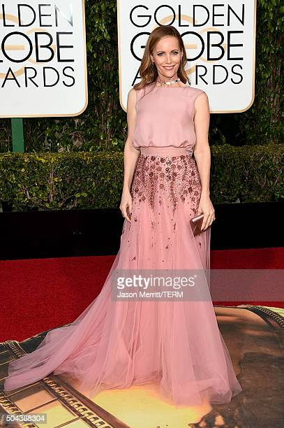 Actress Leslie Mann attends the 73rd Annual Golden Globe Awards held at the Beverly Hilton Hotel on January 10 2016 in Beverly Hills California