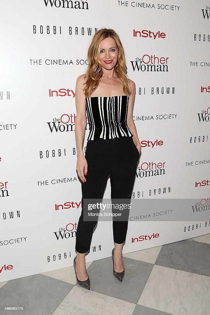 Actress Leslie Mann attends The Cinema Society & Bobbi Brown with InStyle screening of 'The Other Woman' at The Paley Center for Media on April 24, 2014 in New York City.