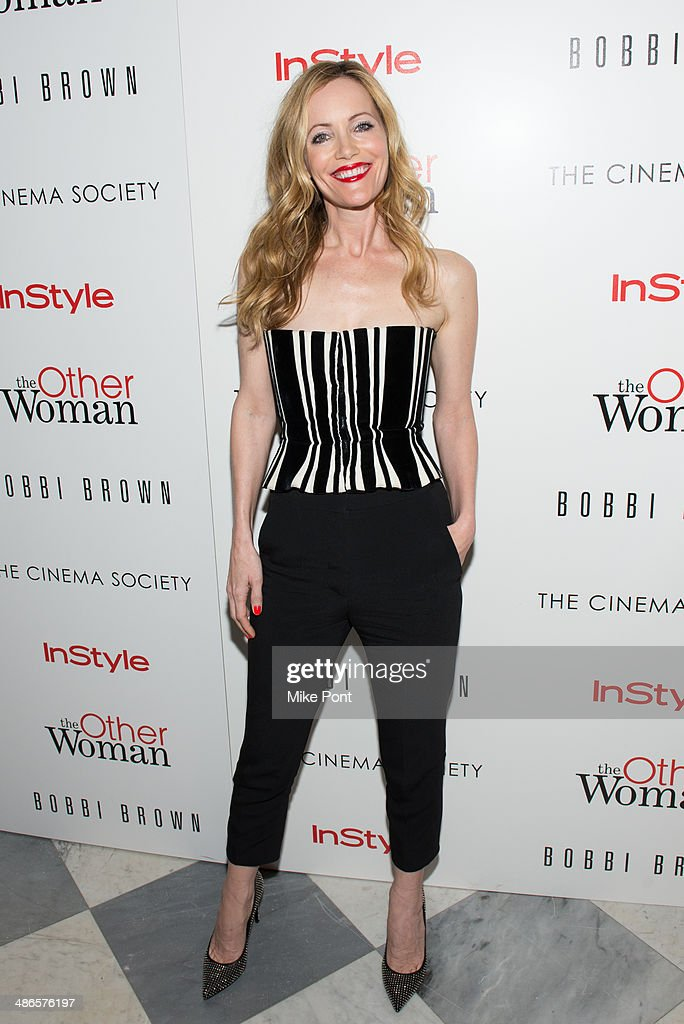 Actress <a gi-track='captionPersonalityLinkClicked' href=/galleries/search?phrase=Leslie+Mann&family=editorial&specificpeople=595973 ng-click='$event.stopPropagation()'>Leslie Mann</a> attends The Cinema Society & Bobbi Brown with InStyle screening of 'The Other Woman' at The Paley Center for Media on April 24, 2014 in New York City.
