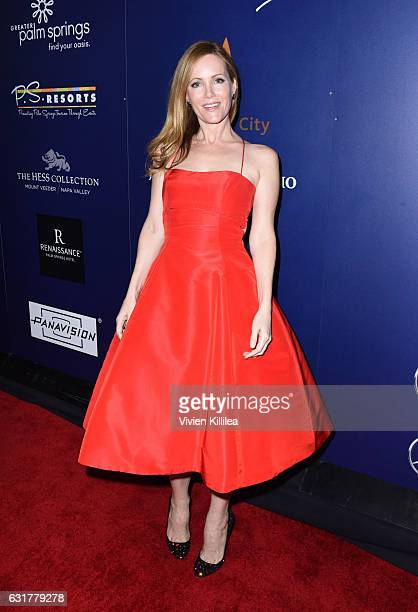 Actress Leslie Mann attends the Closing Night Screening of 'The Comedian' at the 28th Annual Palm Springs International Film Festival on January 15...