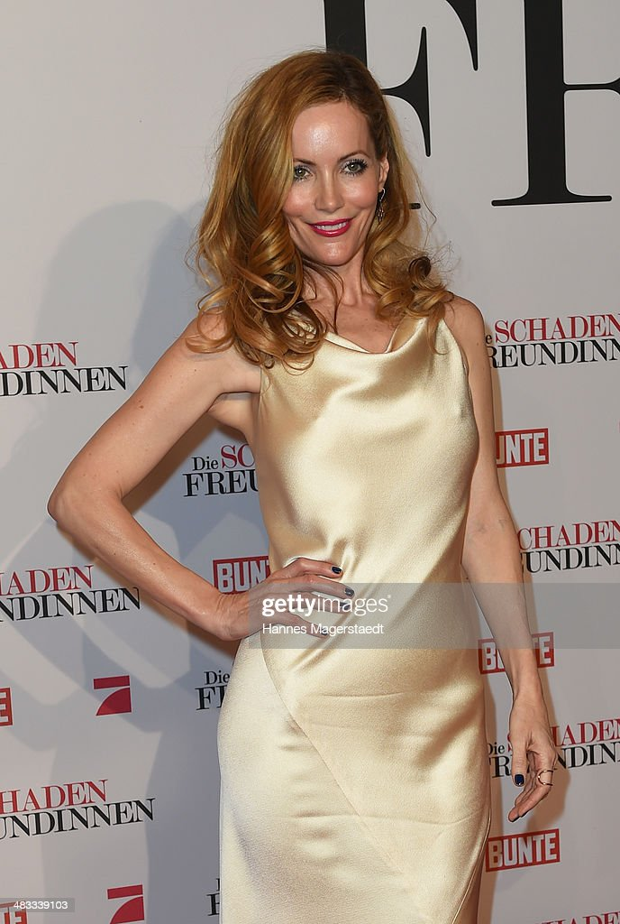 Actress <a gi-track='captionPersonalityLinkClicked' href=/galleries/search?phrase=Leslie+Mann&family=editorial&specificpeople=595973 ng-click='$event.stopPropagation()'>Leslie Mann</a> attends the German premiere of the film 'The Other Woman' (German title: Die Schadenfreundinnen) at Mathaeser Filmpalast on April 7, 2014 in Munich, Germany.