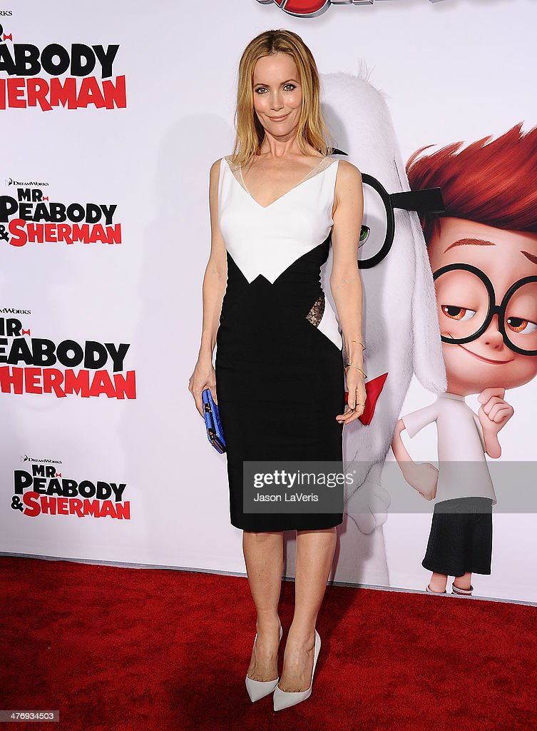 Actress Leslie Mann attends the premiere of 'Mr Peabody Sherman' at Regency Village Theatre on March 5 2014 in Westwood California