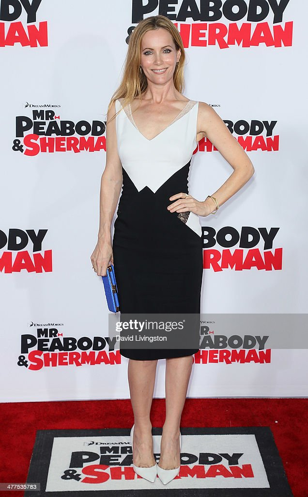 Actress Leslie Mann attends the premiere of Twentieth Century Fox and DreamWorks Animation's 'Mr Peabody Sherman' at the Regency Village Theatre on...
