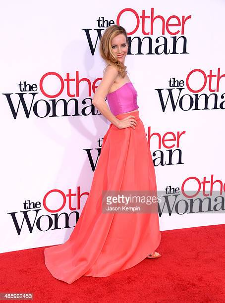 Actress Leslie Mann attends the premiere of Twentieth Century Fox's 'The Other Woman' at Regency Village Theatre on April 21 2014 in Westwood...