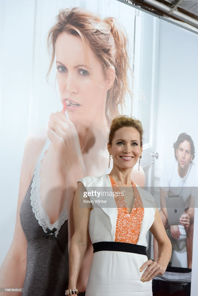Actress Leslie Mann attends the Premiere Of Universal Pictures' 'This Is 40' at Grauman's Chinese Theatre on December 12, 2012 in Hollywood, California.