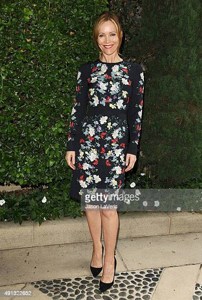 Actress Leslie Mann attends the Rape Foundation's annual brunch at Greenacres The Private Estate of Ron Burkle on October 4 2015 in Beverly Hills...
