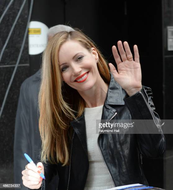 Actress Leslie Mann is seen outside 'Good Morning America'on April 23 2014 in New York City