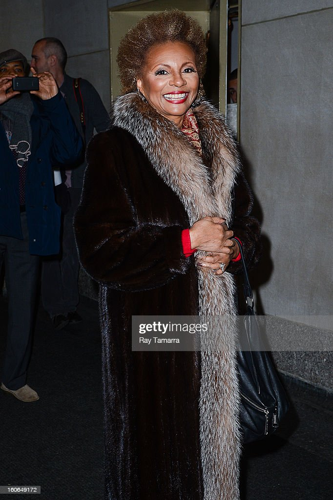 Actress Leslie Uggams leaves the 'Today Show' taping at the NBC Rockefeller Center Studios on February 4, 2013 in New York City.