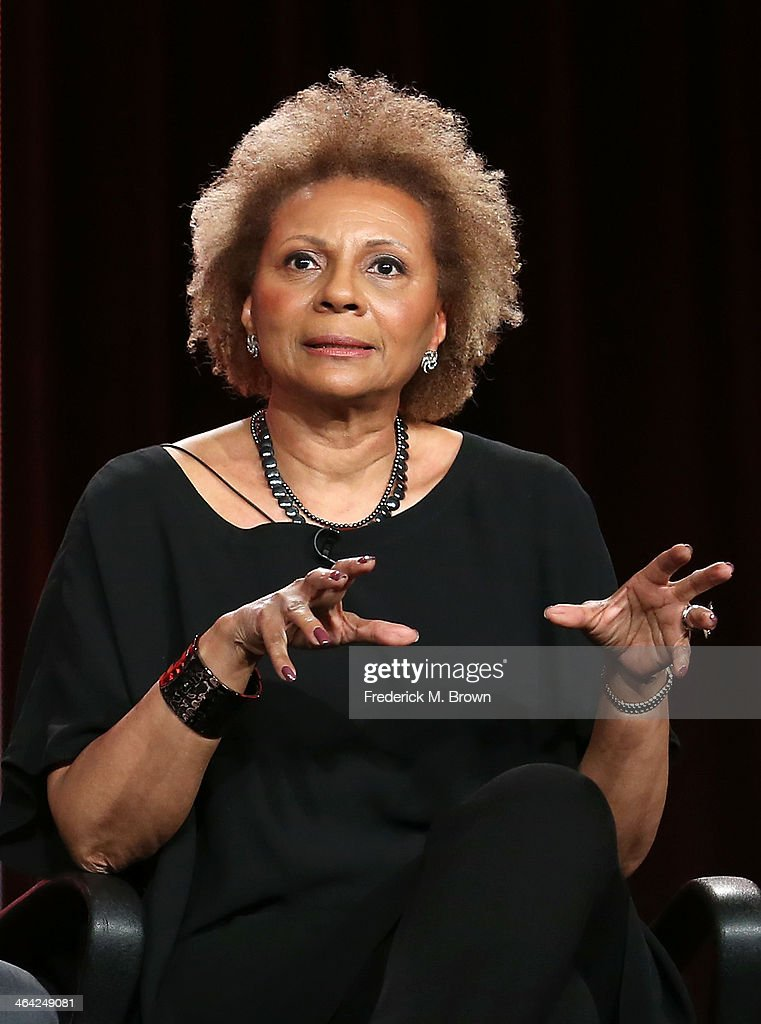 Actress <a gi-track='captionPersonalityLinkClicked' href=/galleries/search?phrase=Leslie+Uggams&family=editorial&specificpeople=213729 ng-click='$event.stopPropagation()'>Leslie Uggams</a> speaks onstage during the 'Pioneers of Television, Season 4, 'Acting Funny', 'Breaking Barriers', 'Doctors and Nurses', and 'Standup to Sitcom' ' panel discussion at the PBS portion of the 2014 Winter Television Critics Association tour at Langham Hotel on January 21, 2014 in Pasadena, California.