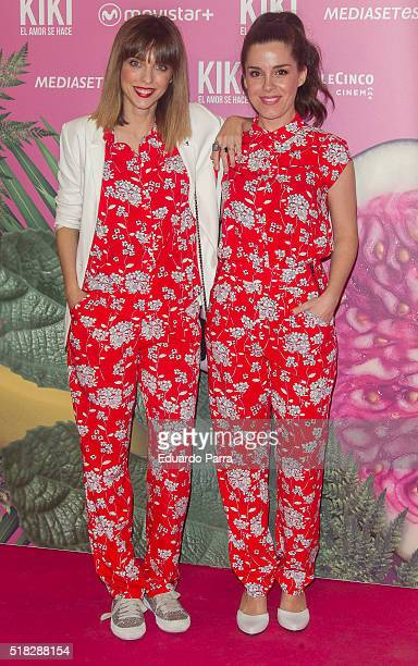 Actress Leticia Dolera and actress Nuria Gago attend 'Kiki el amor se hace' premiere at Capitol cinema on March 30 2016 in Madrid Spain
