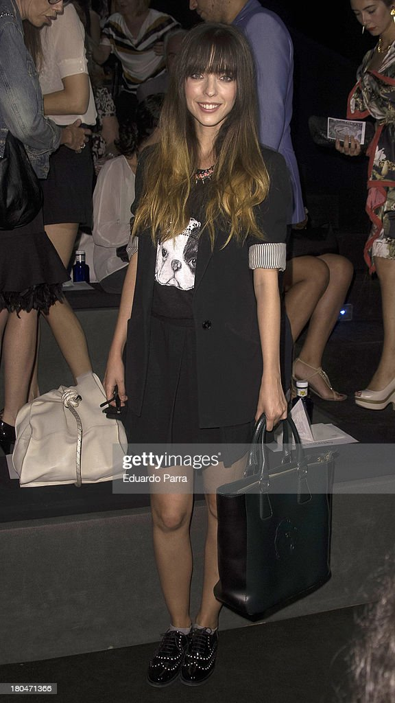 Actress Leticia Dolera attends a fashion show during the Mercedes Benz Fashion Week Madrid Spring/Summer 2014 on September 13, 2013 in Madrid, Spain.