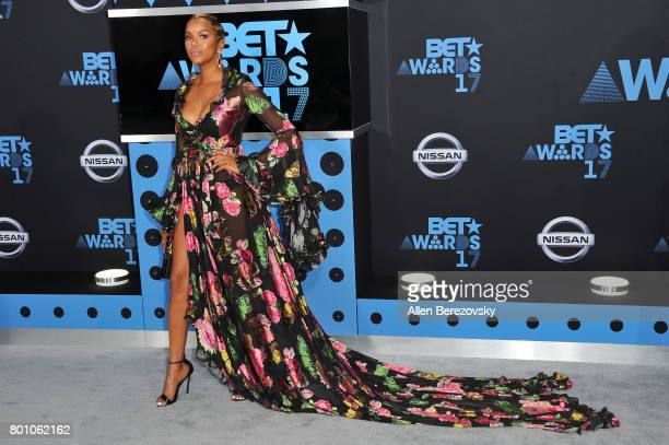 Actress LeToya Luckett arrives at the 2017 BET Awards at Microsoft Theater on June 25 2017 in Los Angeles California
