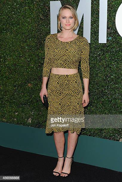 Actress Leven Rambin arrives at Michael Kors Celebrates The Launch Of Claiborne Swanson Frank's 'Young Hollywood' Portrait Book on October 2 2014 in...