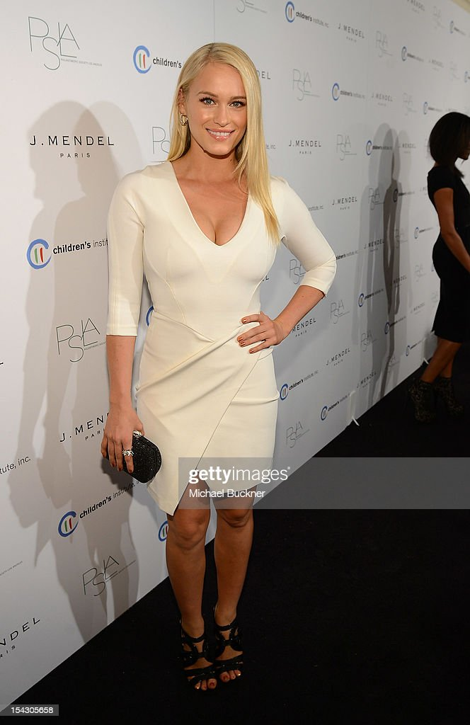 Actress Leven Rambin arrives at The 3rd Annual Autumn Party Feature a fashion show by J. Mendel Benefitting Children's Institute, Inc. at The London on October 17, 2012 in West Hollywood, California.