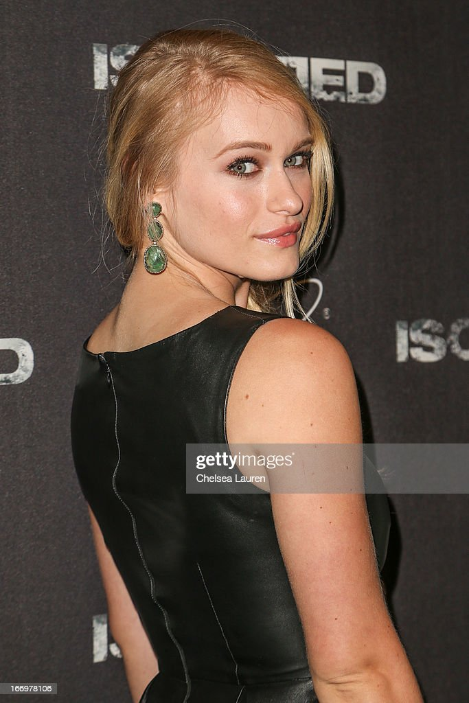 Actress Leven Rambin arrives at the premiere of 'Isolated' at Equinox Sports Club West LA on April 18, 2013 in Los Angeles, California.