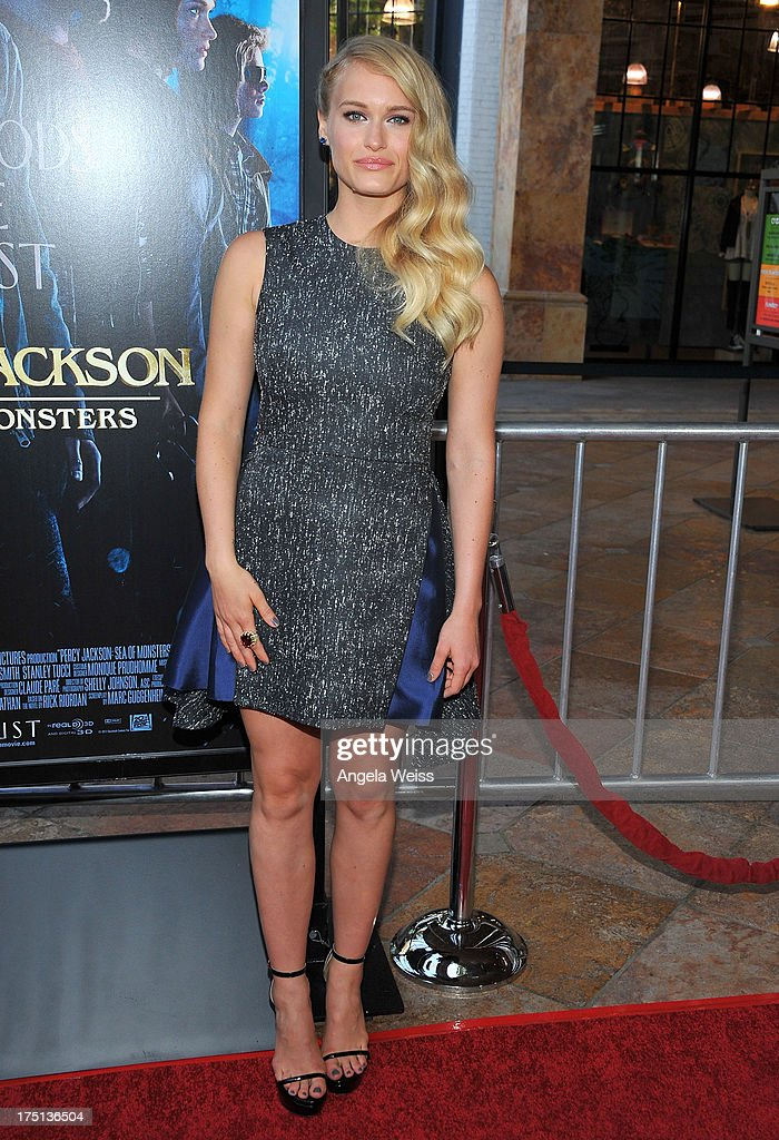 Actress Leven Rambin arrives at the premiere of 'Percy Jackson: Sea Of Monsters' at The Americana at Brand on July 31, 2013 in Glendale, California.