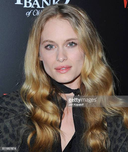Actress Leven Rambin arrives at Vanity Fair And FIAT Toast To 'Young Hollywood' at Chateau Marmont on February 23 2016 in Los Angeles California